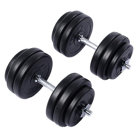 gymax 30 kg juego de mancuernas Heavy Duty mancuernas de peso ...