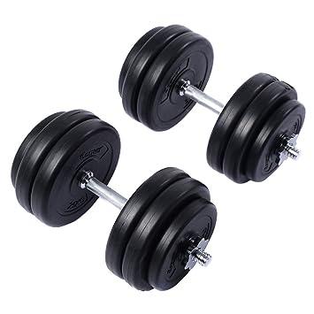 gymax 30 kg juego de mancuernas Heavy Duty mancuernas de peso ajustable entrenamiento gimnasio Fitness: Amazon.es: Deportes y aire libre