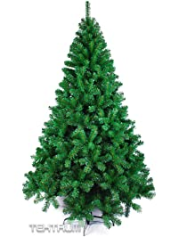 tektrum 7 feet artificial christmas tree with solid metal stand for christmasholiday - Mini Artificial Christmas Trees