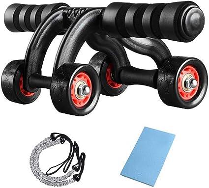 der effiziente Bauchmuskeltrainer f/ür Zuhause Ab Roller mit 3 Rollen und Stopper diMio Bauchtrainer