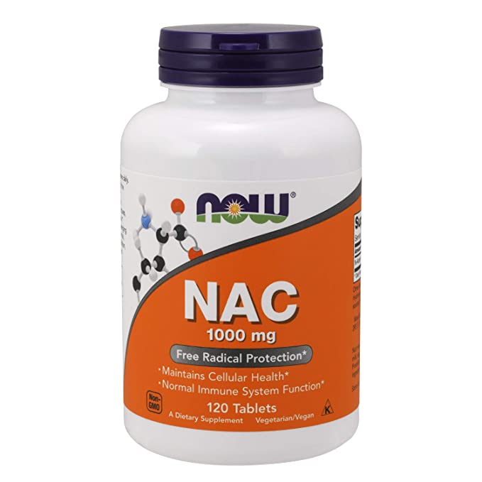 NAC, 1000 mg, 120 comprimés - Now Foods