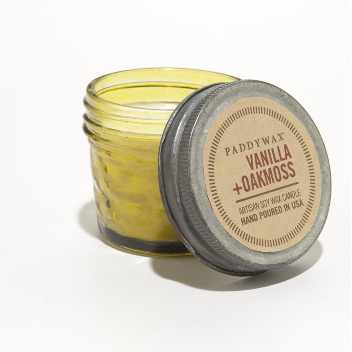 Paddywax Relish 3 oz Glass Jar Candle Vanilla & Oakmoss