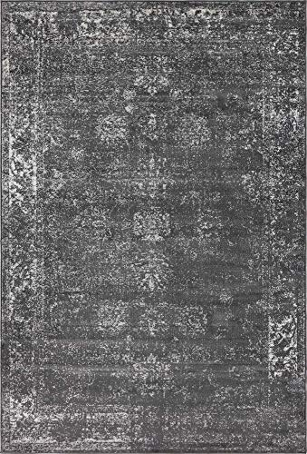 - Unique Loom 3134052 Sofia Collection Traditional Vintage Beige Area Rug, 4' x 6' Rectangle, Dark Gray