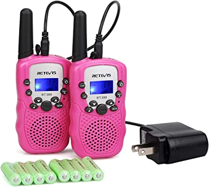 Hiking Long Range Two-Way Radio with Crystal Clear Sound Walkie Talkies for Kids Blue /& Pink Best Birthday Gifts Toys for Boys Girls Outdoor Adventure Games 2 Pack Camping