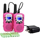 Retevis RT-388 Kids Walkie Talkies,Long Range Rechargeable Two Way Radio,Toys Age 4-12 to Outdoor Camping,Hiking…
