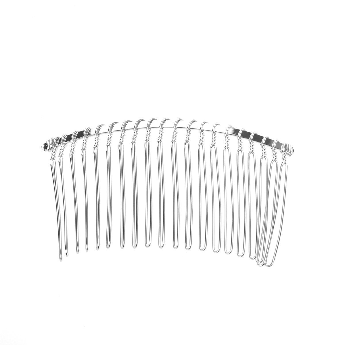 Amazon.com: 1 Comb04 Wire Silver Hair Comb Bridal/veil/crafts 3in by ...