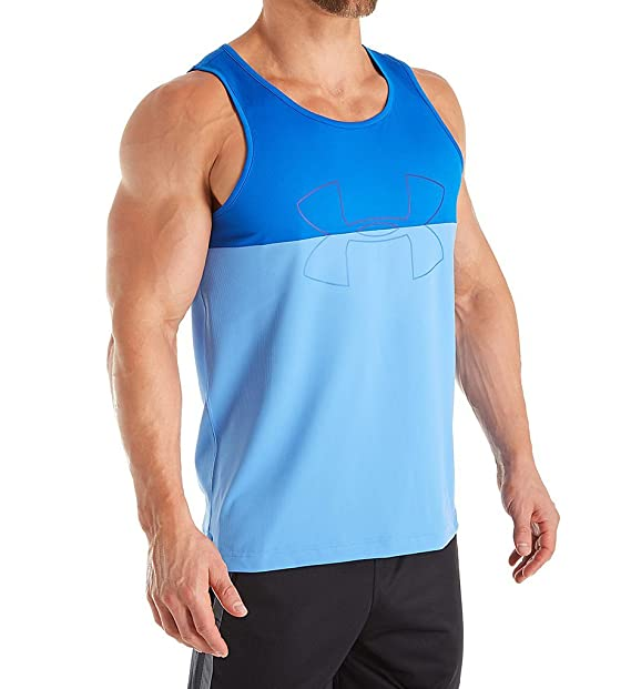 e84aa5716e3f4d Under Armour Men s UA Fractle Tank Top Water Blue Marker Water Tank Top