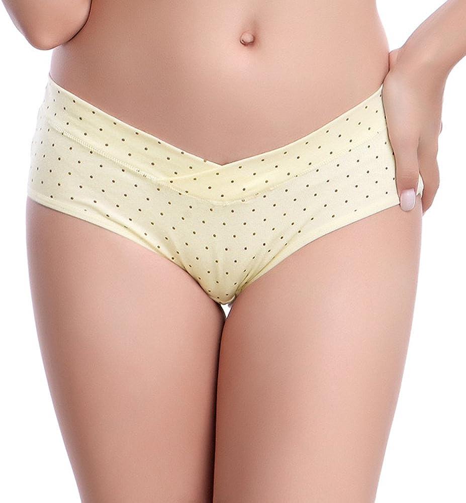 X/&F Womens U-Shape Low Rise Pregnant Underwear Comfort Cotton Panty