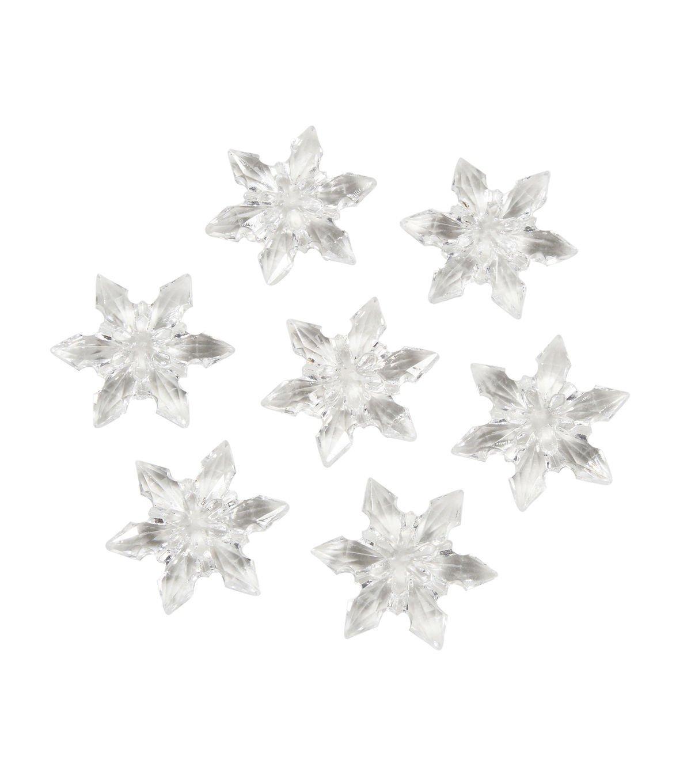 Darice 1151-88 Acrylic Diamond Gems, 7-Ounce, Clear Snowflakes