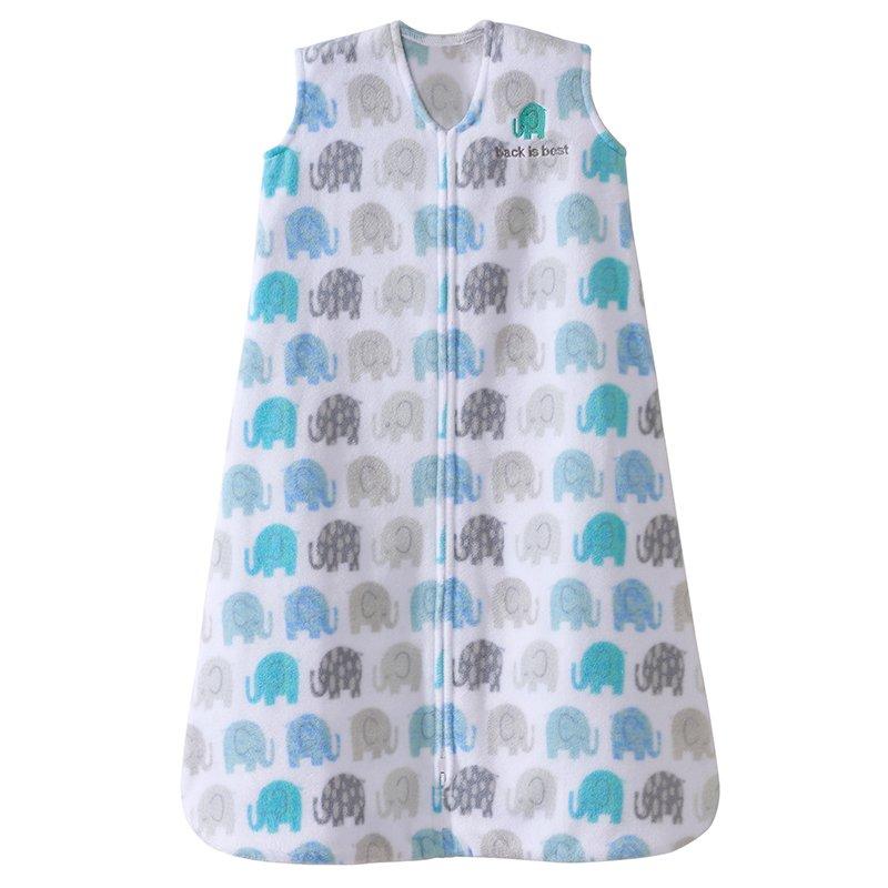 Halo SleepSack, Micro-fleece, Elephant Texture, Gray, Medium by Halo
