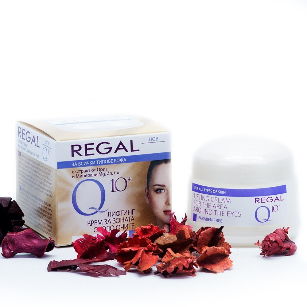 Regal LIFTING CREAM FOR THE AREA AROUND THE EYES - With Co-Enzyme Q10, Vitamins & Rice Extracts - Smoothes Lines & Wrinkles, Long-Lasting Hydration, Gently Lightens – 20ml Gently Lightens - 20ml
