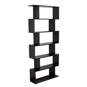 HOMCOM - Libreria di Design in Legno 80x25x192cm Nero: Amazon.it ...