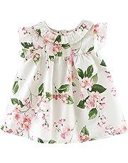 Weixinbuy Baby Girls' Flowers Sundress Princess Casual Loose Playwear Dress