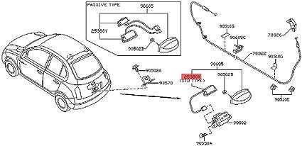 Interruttore di apertura per portellone posteriore per Micra 2002-2010 K12 25380AX60B