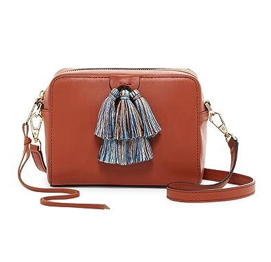 fe9f0b81e6 Amazon.com  Rebecca Minkoff Mini Sofia Leather Tassel Crossbody ...