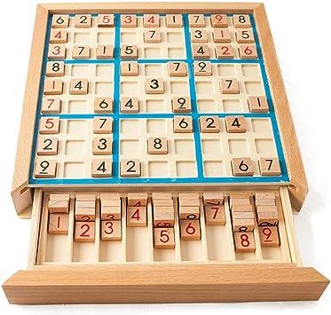 HSDM®Wooden Sudoku Game Lógica para Adultos Pensamiento Jiugongge ...