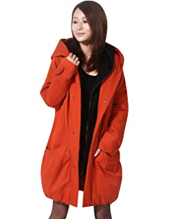 ffda701e65824 Yolee Women's Zipper Mid-Length Down Parka Maternity Coat Two Pockets with  Hoodie