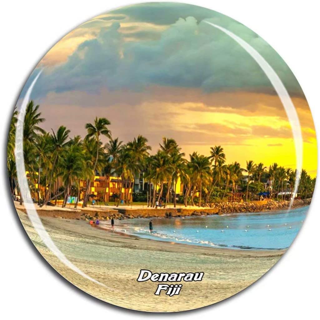 Denarau Island Fiji Fridge Magnet 3D Crystal Glass Tourist City Travel Souvenir Collection Gift Strong Refrigerator Sticker