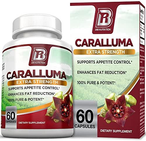 BRI Nutrition Caralluma Fimbriata - Natural Appetite Suppressant & Weight Loss Diet Pills - 1000mg, 30-Day, 60 Count Vegetable Cellulose Capsules