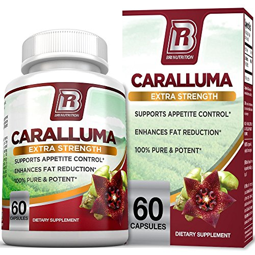BRI Nutrition Caralluma Fimbriata - Natural Appetite Suppressant & Weight Loss Diet Pills - 1000mg, 30-Day, 60 Count Vegetarian Capsules by BRI Nutrition
