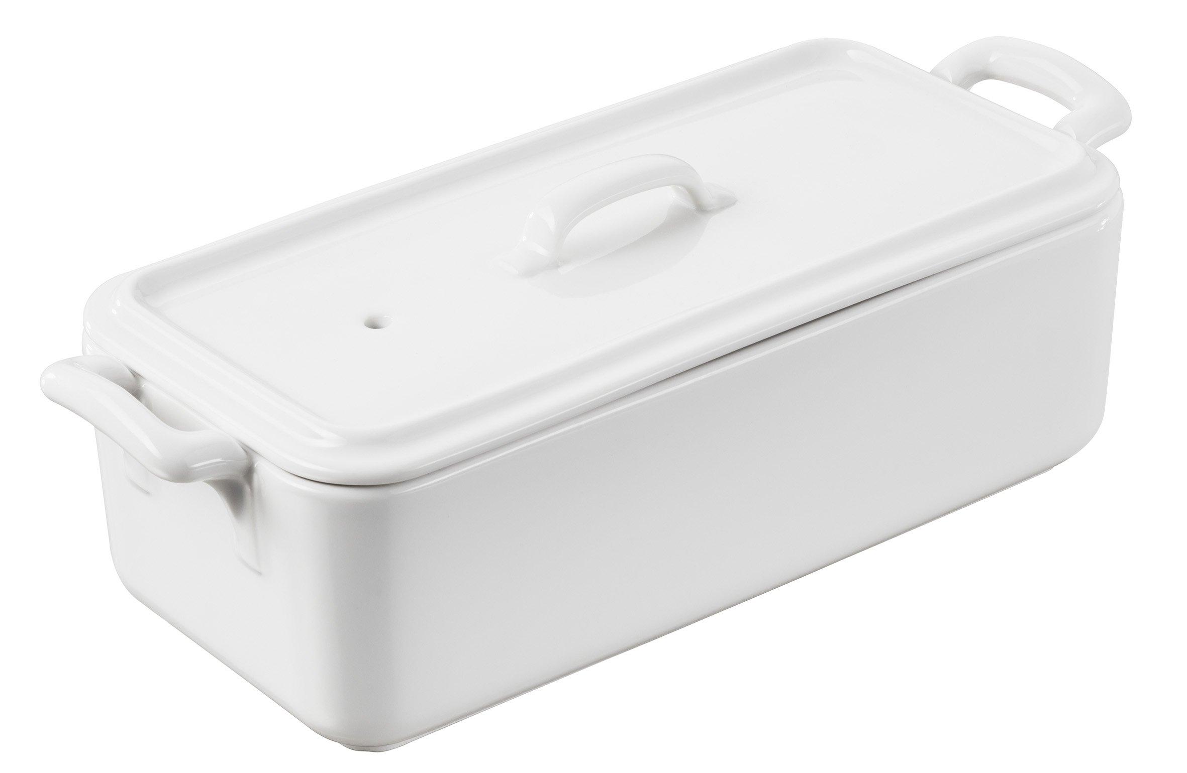 Revol 618410 BC081000 Terrine with lid, 35.25 Oz, White by Revol