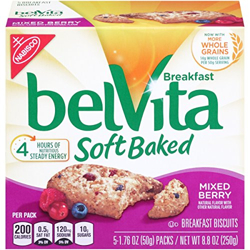 (belVita Soft Baked Breakfast Biscuits, Mixed Berry, 8.8 Ounce)