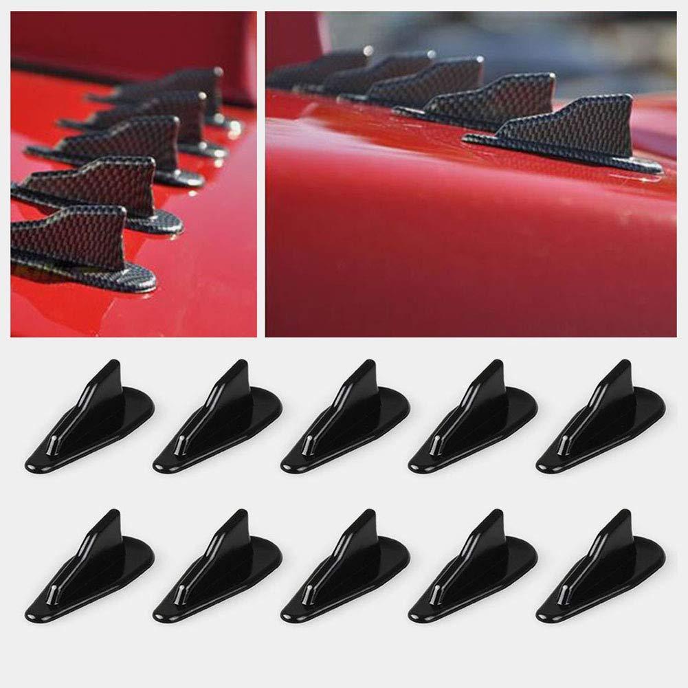 Balight EVO Style Carbon Black Techo de autom/óvil Aletas de tibur/ón Alitas Alas Antena de coche Reemplazo de autom/óvil Accesorios