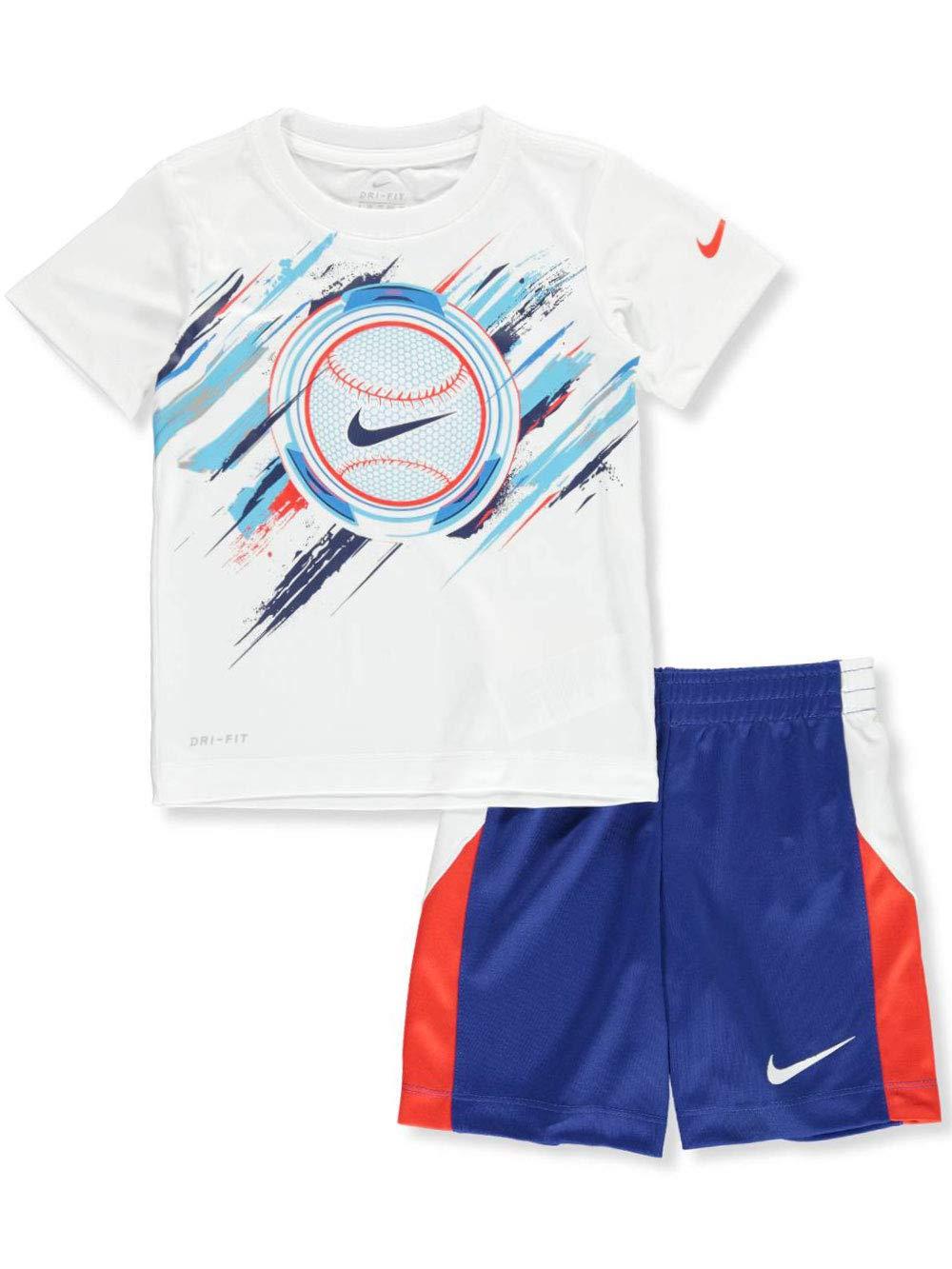 Nike Boys' 2-Piece Shorts Set Outfit - Indigo, 2t