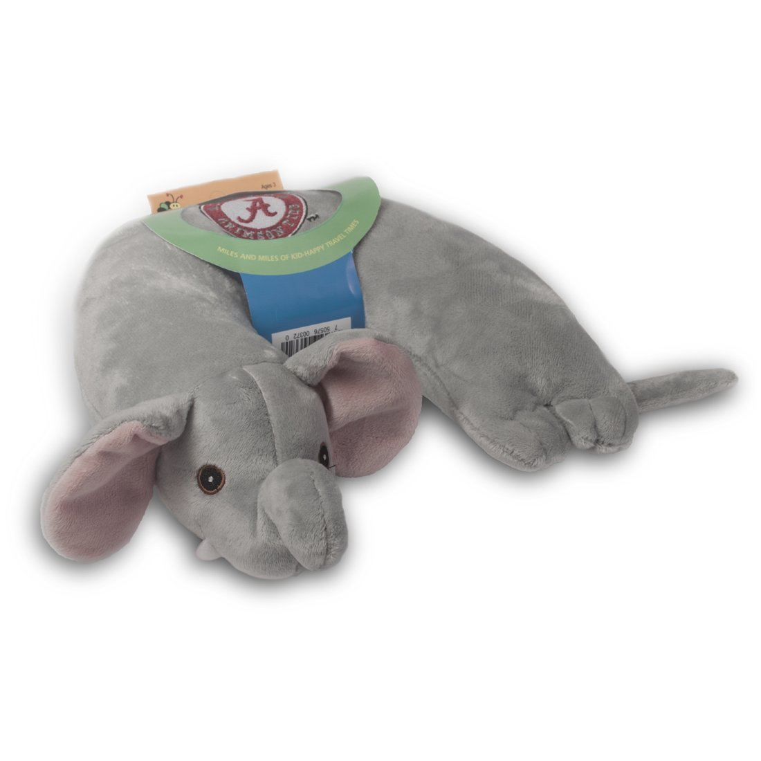 Critter Piller NCAA Kids Travel Neck Pillow Alabama Crimson Tide Grey Elephant 2216UAL