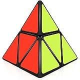 D-FantiX ShengShou Pyramorphix 2x2 Pyramid Cube Puzzle Toy Black