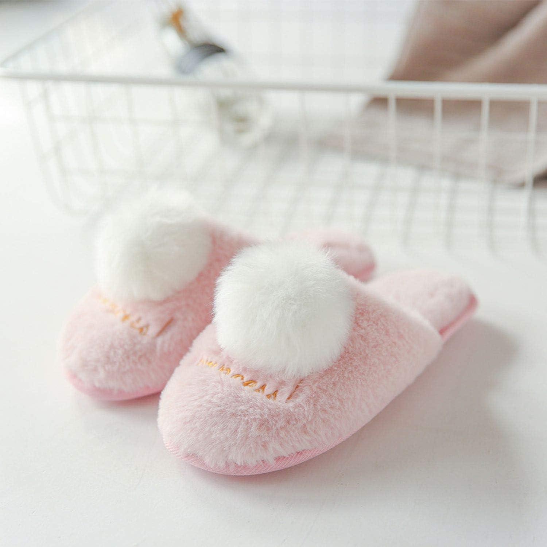 Iuhan Fashion Baby Girls Plush Ball Soft Sole Sneaker Non-Slip Warm Velvet Shoes