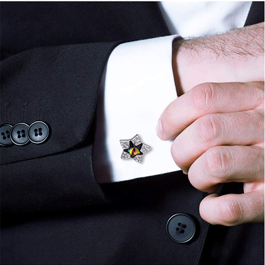 Joyas con Gemelos Swarovski Elements Crystal Star Men ...