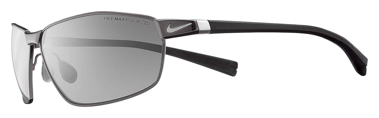 32ba091f1742 Amazon.com : Nike Stride Sunglasses, Gunmetal/Black, Grey Max Polarized  Lens : Sports & Outdoors