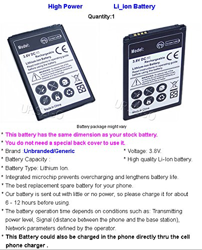 Amazon.com: High Capacity 2450mAh Rechargeable Li-ion Grade A Battery for Cricket LG Risio H343 Smartphone with special accessory (see picture): Cell Phones ...