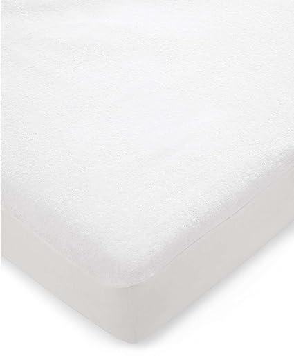 Mamas & Papas – Protector impermeable para colchón de cama, tela de felpa