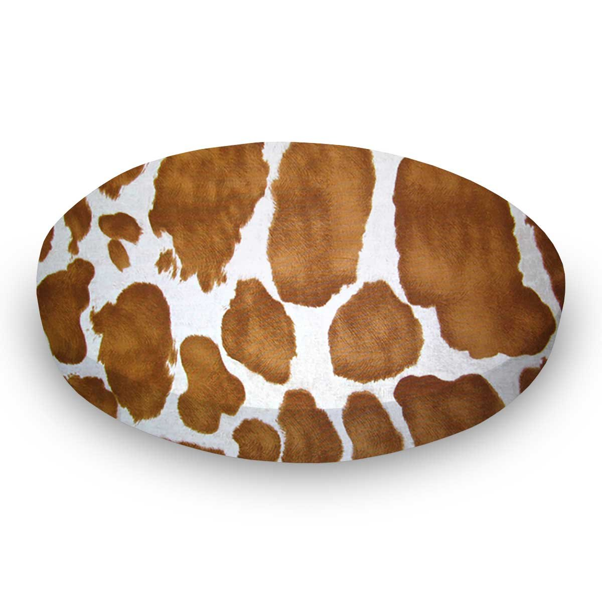 SheetWorld Fitted Oval (Stokke Mini) - Brown Cow - Made In USA
