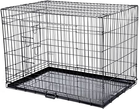 Confidence Pet Dog Folding 2 Door Crate Puppy Carrier Training Cage W O Bed S Amazon Co Uk Sports Outdoors