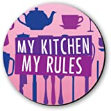 Seven Rays My Kitchen My Rules Fridge Magnet/Multipurpose Magnet (Multicolour)