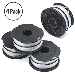 """X Home 90517175 Replacement Spools Compatible with Black Decker GH710 GH700 GH750 DF-065 Weed Eater Refills Line 36ft 0.065"""" Auto-Feed String Trimmer Spool Dual Line Edger Parts (4 pcs)"""