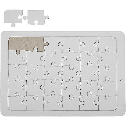 amazon com a4 blank jigsaw create design your own diy jigsaw puzzle