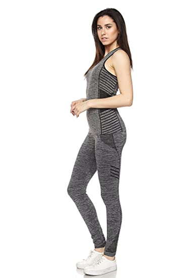 474c98c01f New Mix By Muskoka Marled Ombre Activewear Set (Black): Amazon.ca ...