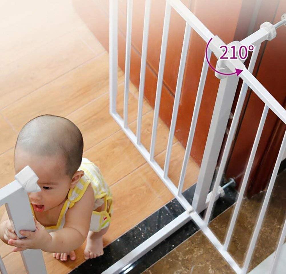 L.TSA Baby Gate Extension Baby Gate con Puerta Baby Playpen Parte Superior de Las escaleras Baby Gate Puerta de Escalera retráctil: Amazon.es: Deportes y aire libre