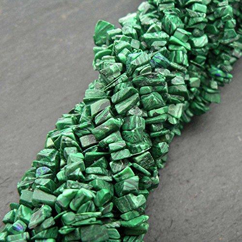 BrightJewels Semi Precious Natural Uncut Chips Green Peridot Gemstone Beads 10 Line 33 inch 5-10 mm Jewelry Making Bracelet Earrings Necklace.