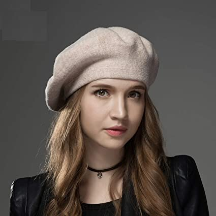 5fbd43e8c4bdf8 Image Unavailable. Image not available for. Color: FLAMINGO_STORE Winter  Hat Berets 2018 New Wool Cashmere Womens Warm Brand Casual ...