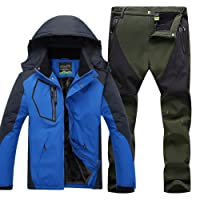 Uomo Giacca impermeabile e Pantaloni da Escursionismo Sport All'Aperto Anti-Vento