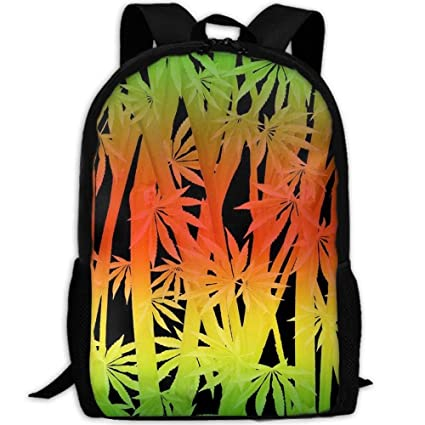 6e3c705af245 Amazon.com: Rasta Stalks and Fan Leaves Canvas Bookbags School ...