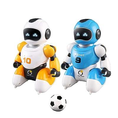 Control remoto Fútbol Robots Juguetes Baile Simulación Juguete educativo con luz intermitente y sonido Niños Juguetes de carga USB eléctricos para niños Niños Niños pequeños: Bebé