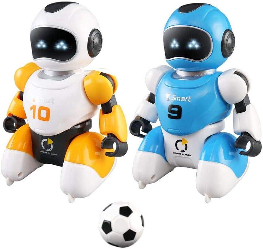 Amazon.es: Jannyshop 2 Pack Carga USB Inteligente Control Remoto Fútbol Robot Juguete Canto y Baile Simulación Juguetes Educativos para Niños Robot Programable Inteligente