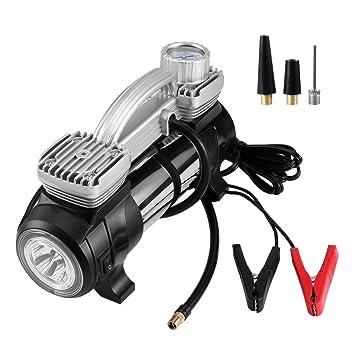 Compresor de Aire Portátil Bomba Inflador Coche 12V Alta Potencia con luz LED Diseño Térmico para Vehículos, Motocicleta, Neumáticos: Amazon.es: Coche y ...