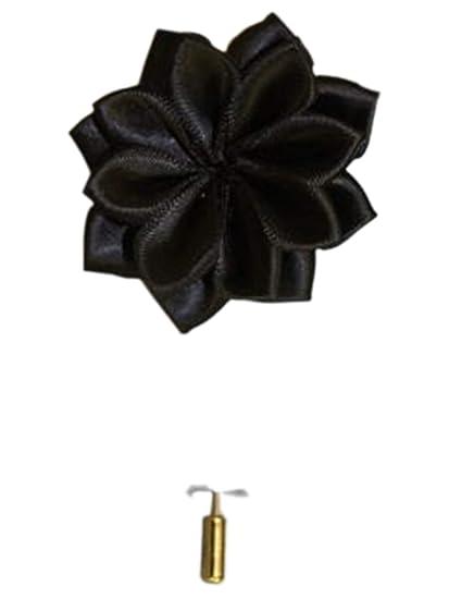 db802d1fd6188 Men's Solid Lotus Flower Lapel Pin Boutonniere For Suit